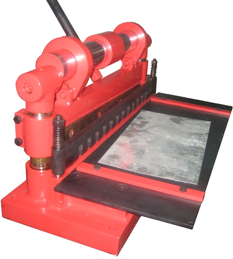 Sheet metal shearing machines power shear under crank Bench shear